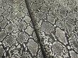 画像3: ヘビ革 合皮レザー生地【メタリックパイソン グレー】 (3)