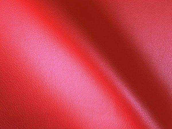 画像1: 合皮レザー生地 お手入れ簡単【難燃 広幅 赤】 (1)