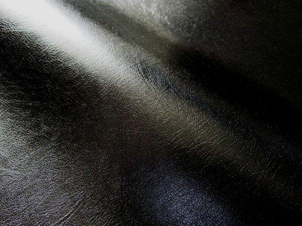 画像1: 合皮レザー生地【薄手 黒 ツヤあり】 (1)