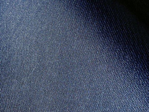 画像1: 合皮レザー生地  伸縮 難燃【デニム調 ネイビー】 (1)