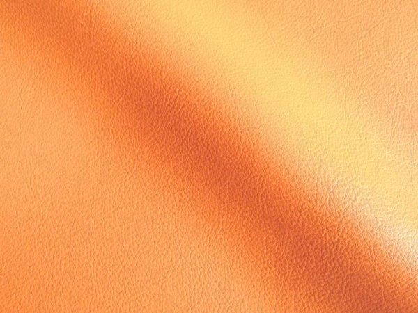 画像1: 合皮レザー生地【難燃 広幅 薄オレンジ】 (1)