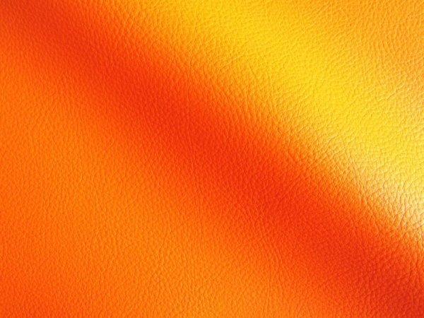 画像1: 合皮レザー生地【難燃 広幅 オレンジ】 (1)