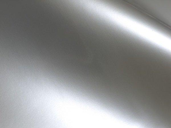 画像1: 合皮レザー生地 エナメル【シルバー/銀色】 (1)