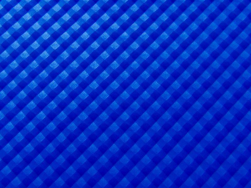 画像1: 合皮 生地 格子(3Dピラミッド)ブルー 光沢 難燃